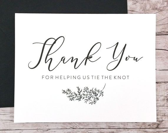 Thank You For Helping Us Tie the Knot Card (FPS0062)