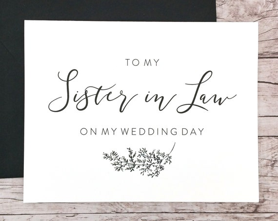 To My Sister in Law On My Wedding Day Card (FPS0062)