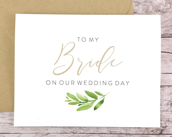 To My Bride On Our Wedding Day Card (FPS0060)