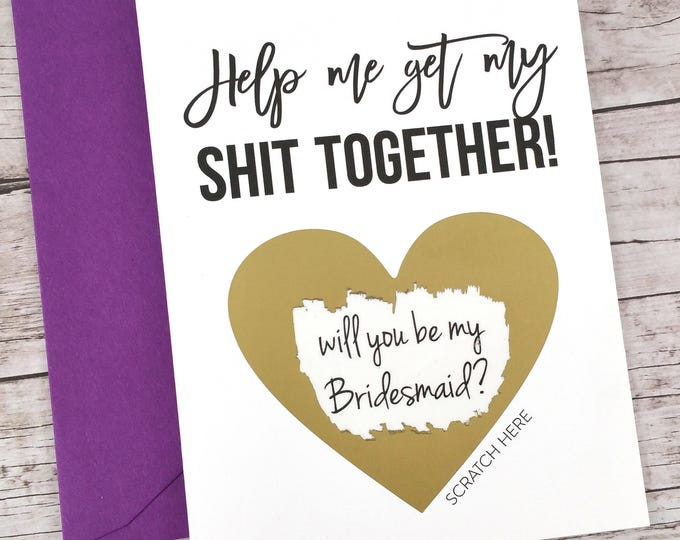 Bridesmaid Scratch Off Card (FPS00S12)