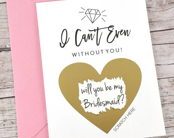 Bridesmaid Scratch Off Card (FPS00S24)