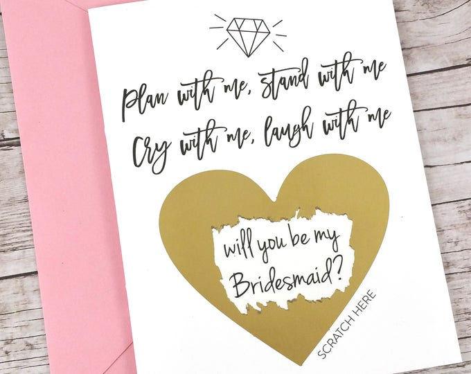Bridesmaid Scratch Off Card (FPS00S21)