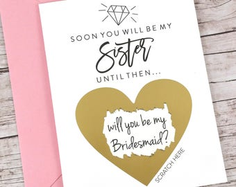 Bridesmaid Scratch Off Card (FPS00S25)