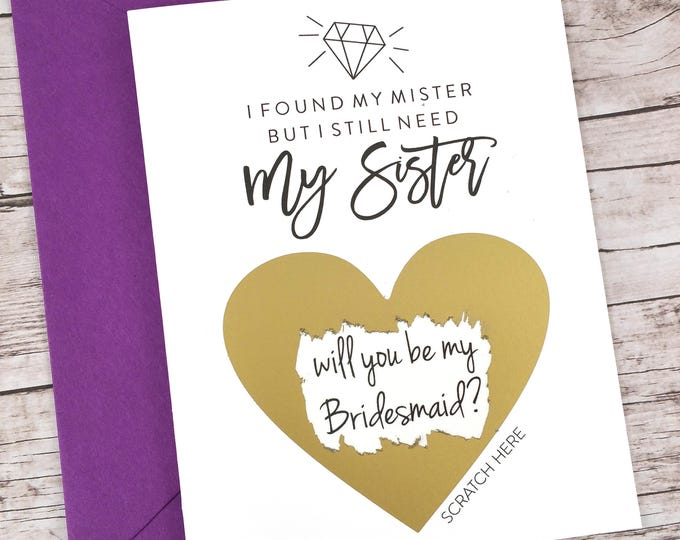 Bridesmaid Scratch Off Card (FPS00S28)