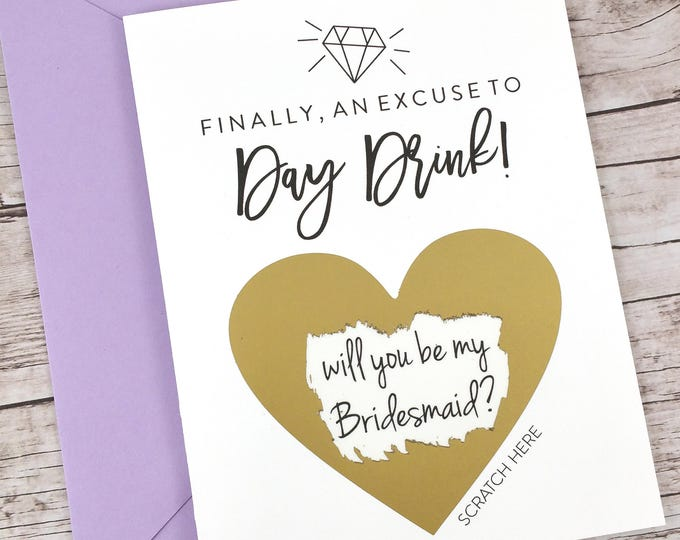 Bridesmaid Scratch Off Card (FPS00S27)