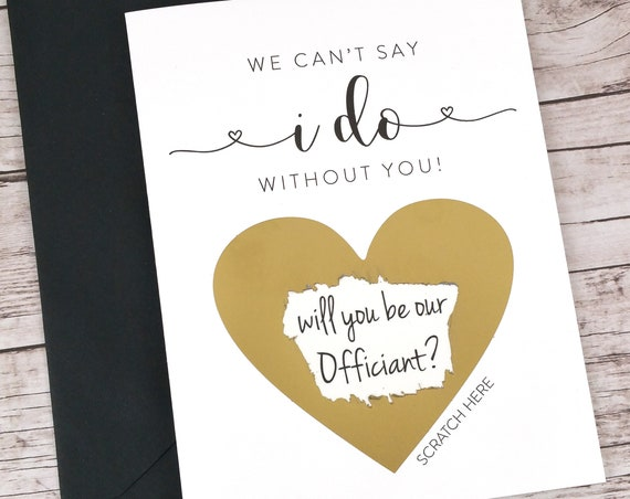 Will You Be Our Officiant Scratch Off Card (FPS00S1)