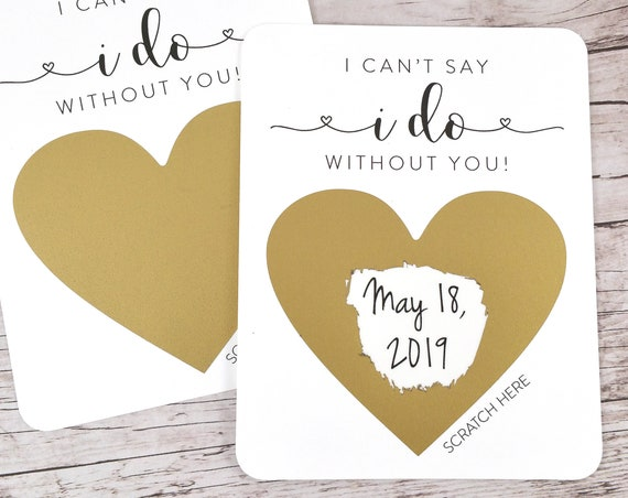 Bridesmaid Proposal Wedding Date Scratch Off (FPSWDS1)