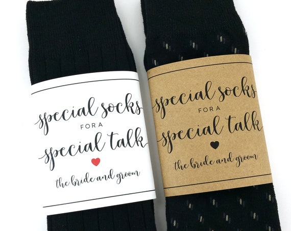 Special Socks for a Special Talk Sock Wrapper