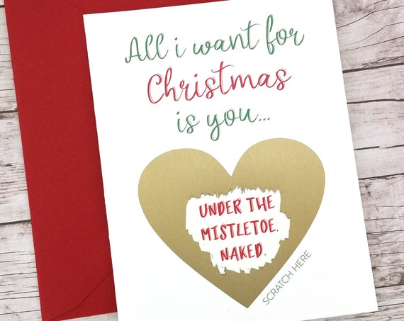 All I Want for Christmas is You Under the Mistletoe Naked Card (FPSCH07)