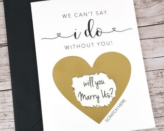 Will You Marry Us Scratch Off Card (FPS00S1)