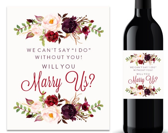 Will You Marry Us Wine Label (FPS0050)