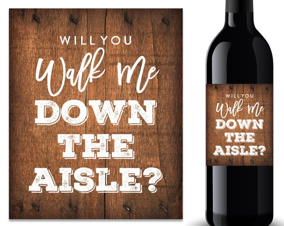 Will You Walk Me Down the Aisle Wine Label (FPSWL01)