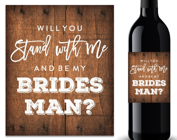 Will You Be My Bridesman Wine Label (FPSWL02)