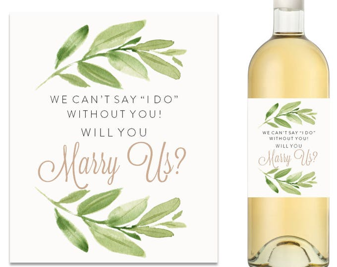 Will You Marry Us Wine Label (FPS0060)