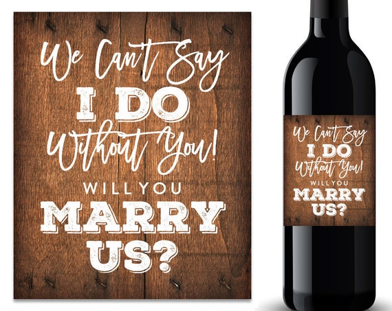 Will You Marry Us Wine Label (FPSWL04)