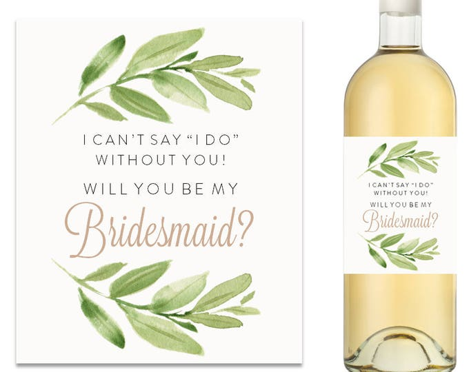 Will You Be My Bridesmaid Wine Label (FPS0060)