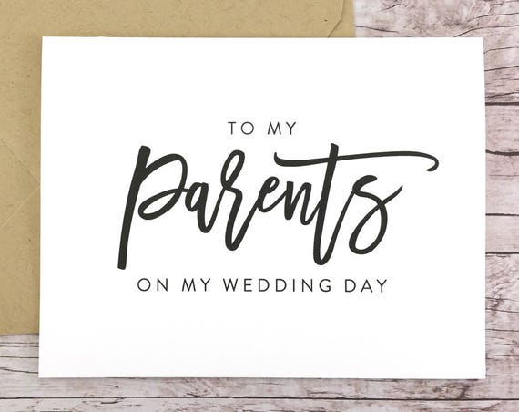 To My Parents On My Wedding Day Card (FPS0017)