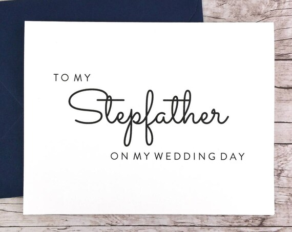 To My Stepfather On My Wedding Day Card (FPS0016)