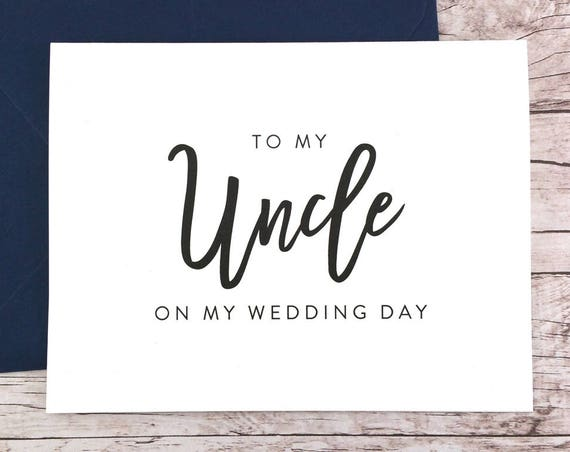 To My Uncle On My Wedding Day Card (FPS0017)