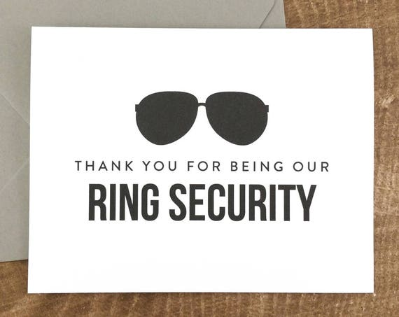 Thank You For Being Our Ring Security Card (FPS0006)