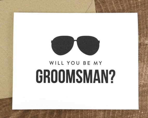 Will You Be My Groomsman Card Funny Groomsman Card (FPS0006)