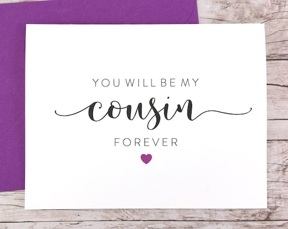 You Will Be My Cousin Forever Card (FPS0053)