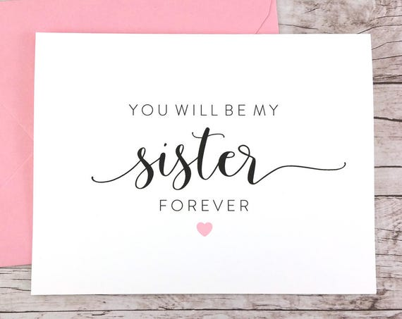 You Will Be My Sister Forever Card (FPS0054)
