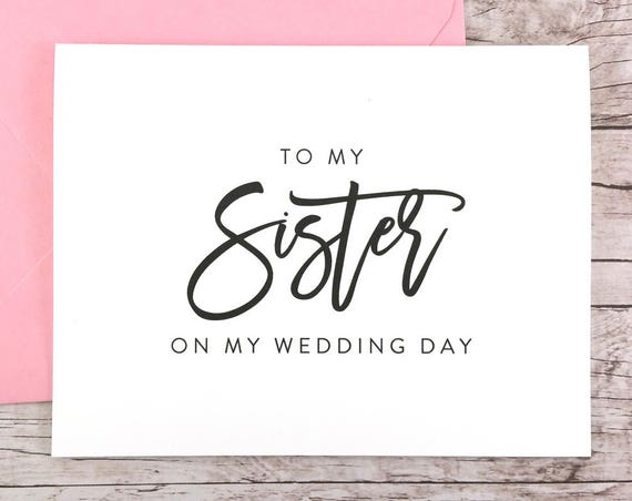 To My Sister On My Wedding Day Card (FPS0017)