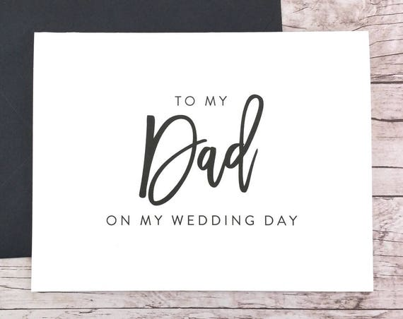 To My Dad On My Wedding Day Card (FPS0017)