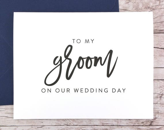 To My Groom On Our Wedding Day Card (FPS0017)