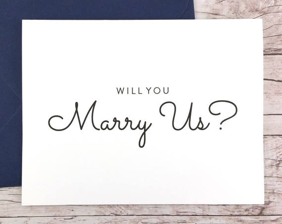 Will You Marry Us Card (FPS0016)