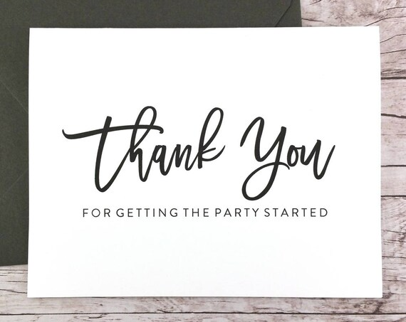 Thank You for Getting the Party Started Card (FPS0017)