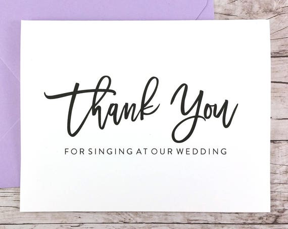 Thank You For Singing At Our Wedding Card (FPS0017)
