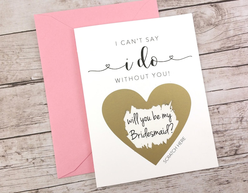 Bridesmaid Scratch Off Card Will You Be My Bridesmaid Card image 0
