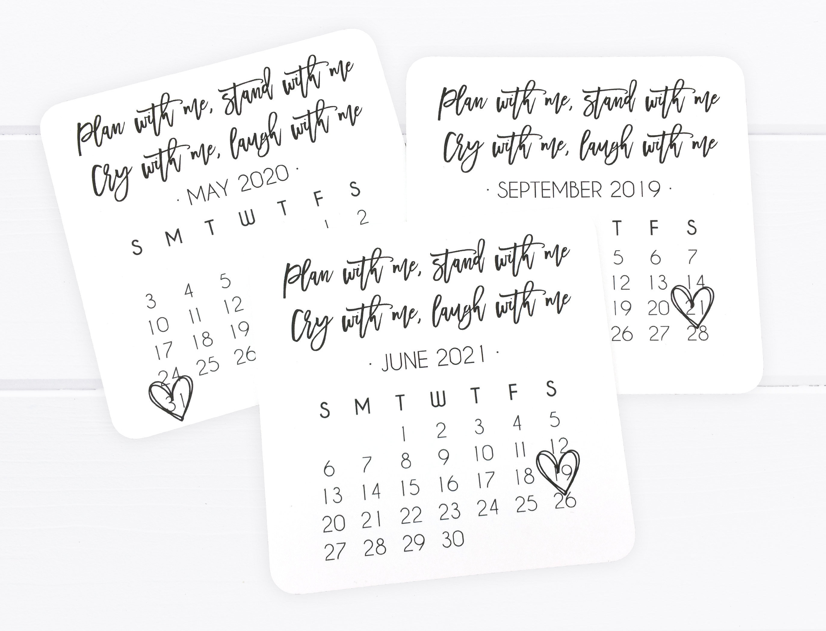 Bridesmaid Proposal Calendar, Bridesmaid Save the Date, Bridesmaid  Calendar, Plan With Me Stand With Me - (FPS00C2)