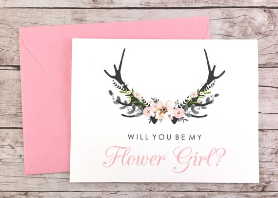 FPS0024 Flower Girl Proposal Card Will You Be My Flower Girl Card