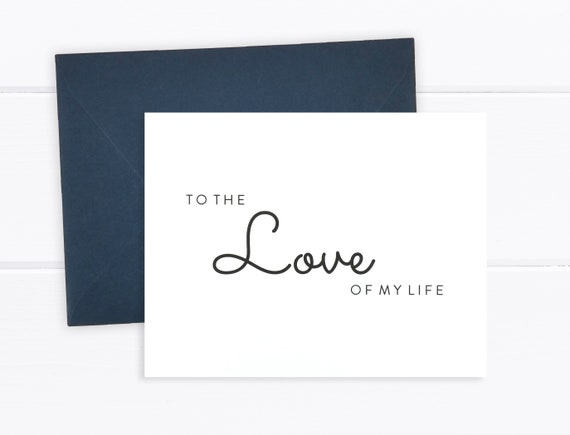 FPS0016 Wedding Day Gift - To My Groom Card To My Bride Card Wedding Card To the Love of my Life Card