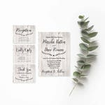 Rustic Wedding Invitations with RSVP Cards-DIY Invitation Suite-String Lights-Wedding Invitation Template Rustic-Instant Download Invitation