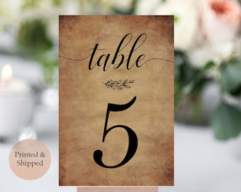 Rustic table numbers | Etsy