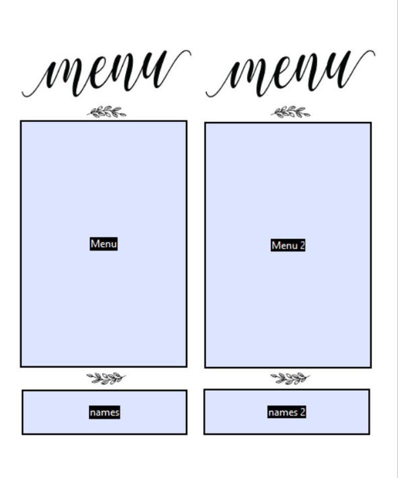 Editable Menu Wedding Menu Cards Gold Menu Card Template Printable Menu Card Wedding Menu Printable Wedding Menu Template Gold