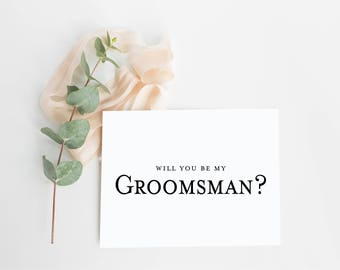Will You Be My Groomsman Card- Groomsman Proposal Card- Asking Groomsmen- Best Man Proposal- Groomsmen Invitation- Wedding Party Cards-