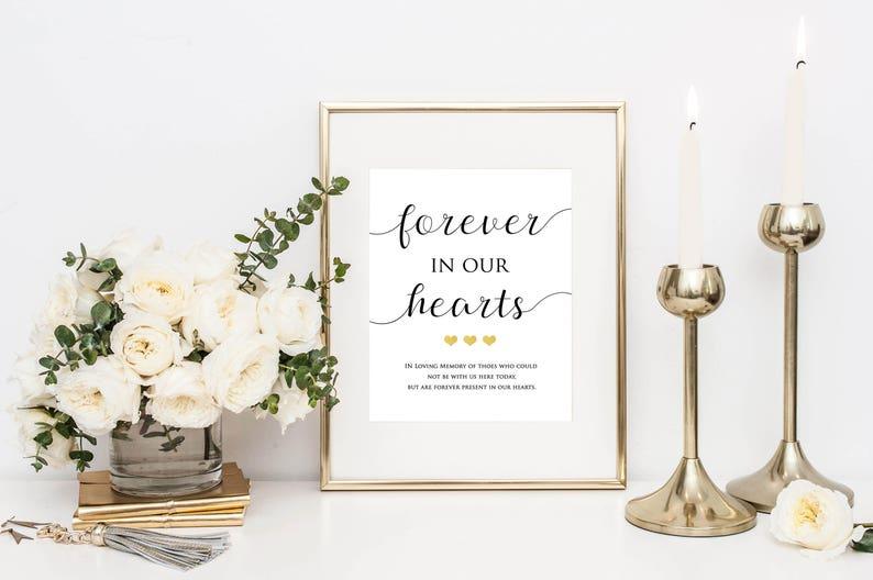 In Loving Memory Wedding Sign Memorial Sign Wedding image 0