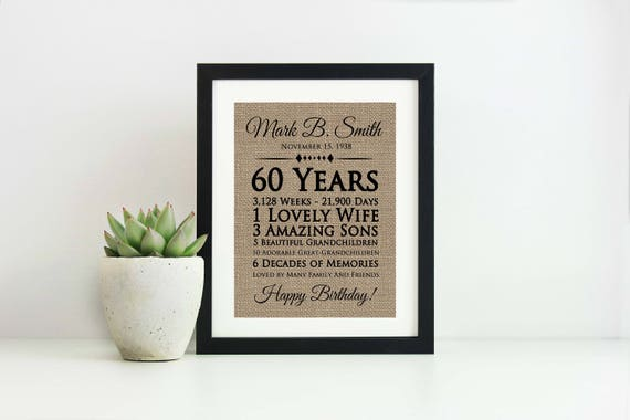60th Birthday Gift For Women Ideas