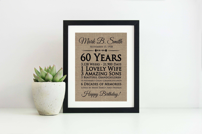 60th Birthday Gift For Women Ideas