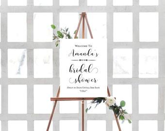 Bridal Shower Sign Ideas- Bridal Shower Decorations- Welcome Bridal Shower Sign- Wedding Sign-  Welcome Shower Sign- Custom Bridal Sign