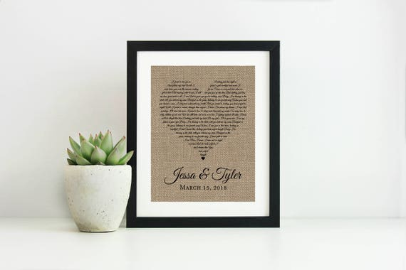 Wedding Vows Framed-Anniversary Gift for Wife-Personalized | Etsy