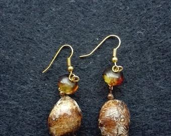 Sea snail Earrings.