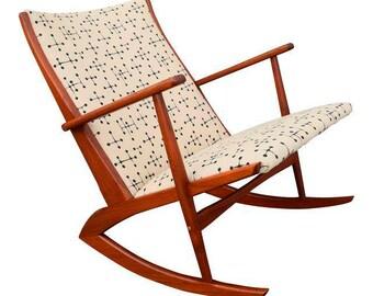 Merveilleux Vintage George Jensen For Kubus Danish Mid Century Boomerang Teak Rocking  Chair