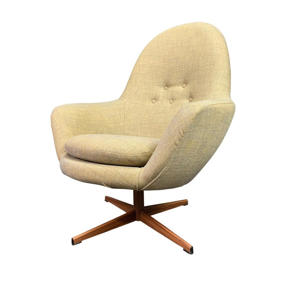 Awe Inspiring Vintage Danish Mid Century Modern Swivel Lounge Chair Beatyapartments Chair Design Images Beatyapartmentscom