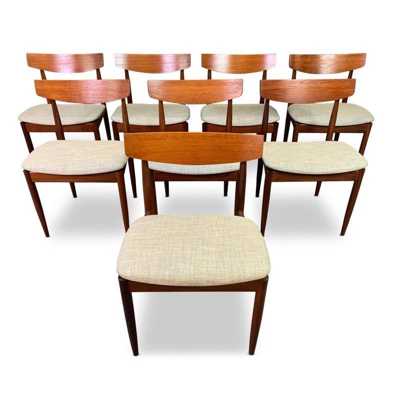 Terrific Vintage Danish Mid Century Modern Teak Dining Chairs By Kofod Larsen For G Plan Set Of Eight Dailytribune Chair Design For Home Dailytribuneorg